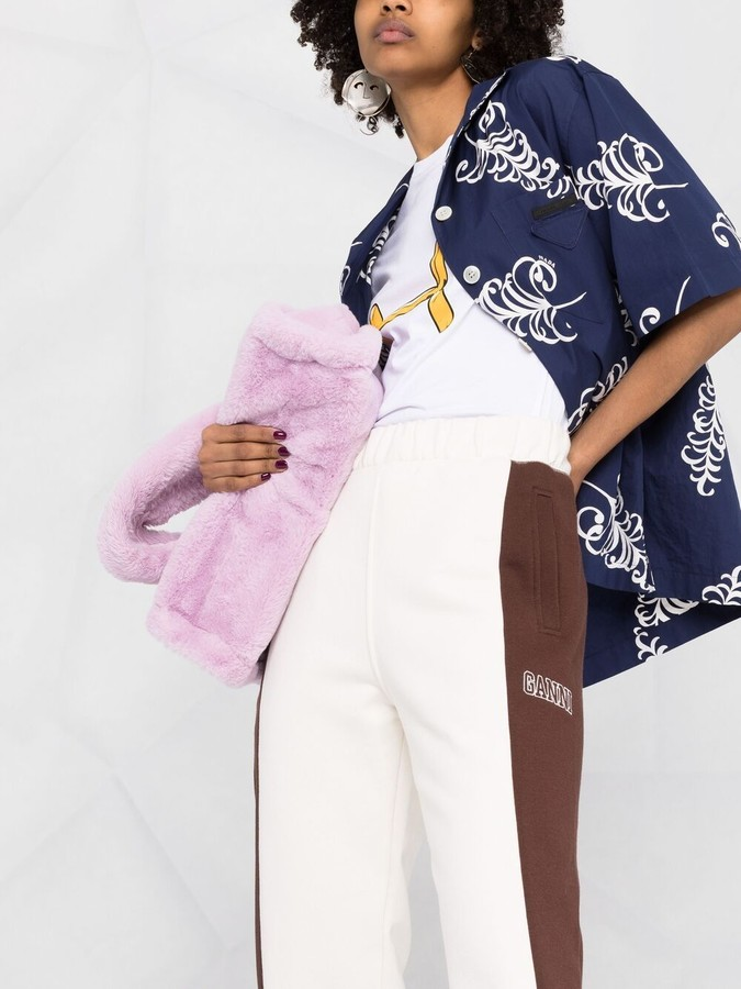 Thumbnail for your product : Ganni Logo-Embroidered Colour-Block Track Pants