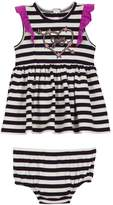 Juicy Couture Knit Stripe Dress With Bodysuit