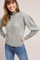 Knitted & Knotted Puffed Turtleneck Pullover