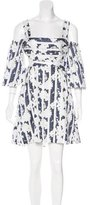 Alexis Cutout-Accented Patterned Dress w/ Tags