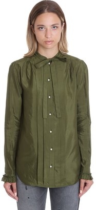 Golden Goose Alessia Shirt In Green Cotton
