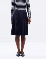 Maison Scotch Knee-Length Pleated Skirt