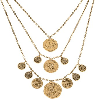 Linea by Louis Dell'Olio Roma Coin Triple Strand Necklace