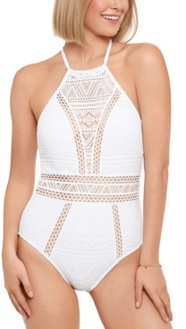 Salt + Cove Juniors' Crochet One-Piece Swimsuit, Created for Macy's Women's Swimsuit