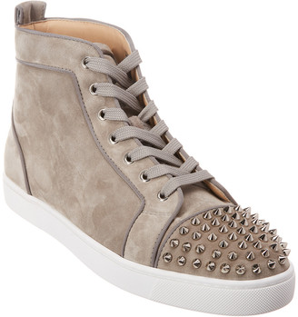 Christian Louboutin Spikes Orlato Suede Sneaker