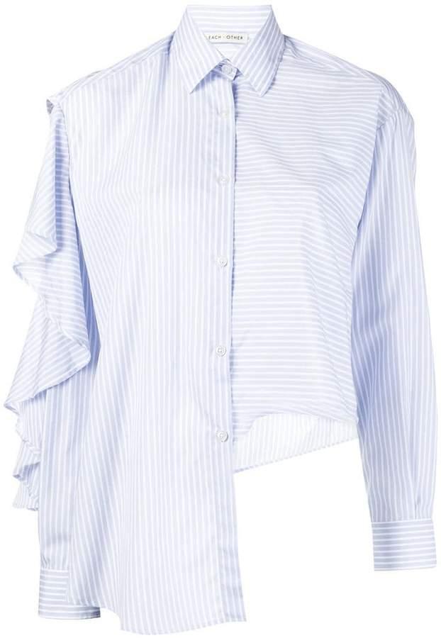 Each X Other ruffled striped shirt