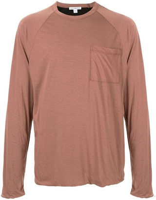 James Perse chest pocket long-sleeved T-shirt