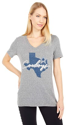 Dallas Cowboys Dallas Cowboys Tisa State Tee (Gray) Women's Clothing