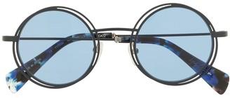 Yohji Yamamoto YY7034 round-frame sunglasses