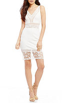 French Connection Noland Jersey & Lace Bodycon Dress
