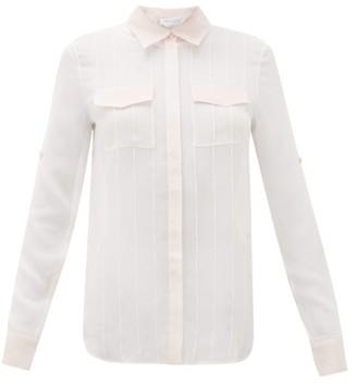 Gabriela Hearst Steve Pintuck-pleated Silk-chiffon Blouse - Pink