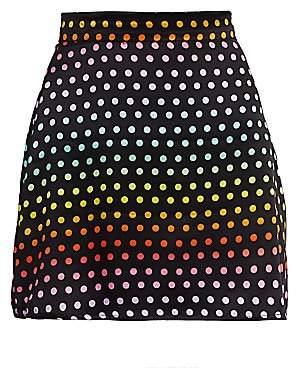 Olivia Rubin Women's Rainbow Dot Mini Skirt