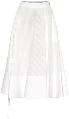 Loewe Pleated cotton-blend midi skirt