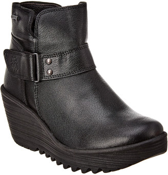 Fly London Yock Leather Wedge Bootie