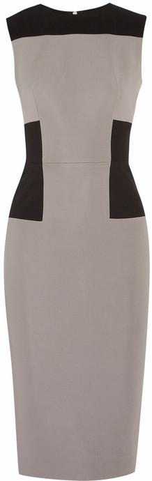 Victoria Beckham Color-block stretch-crepe dress