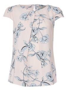 Dorothy Perkins Womens Billie & Blossom Blush Floral Print Shell Top