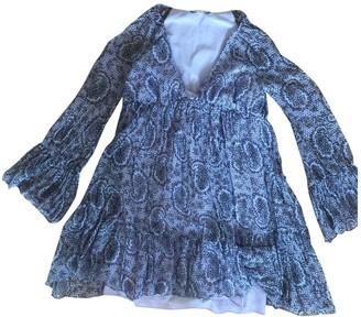 Elizabeth and James Purple Silk Dresses