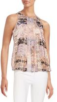 BCBGeneration Sleeveless Pleated Top