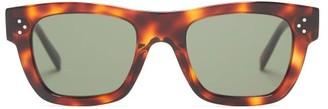 Celine Square Tortoiseshell-acetate Sunglasses - Tortoiseshell