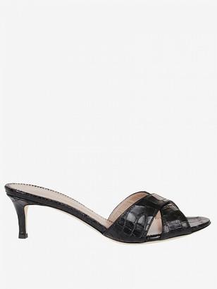 Giuseppe Zanotti Sandal In Crocodile-printed Leather