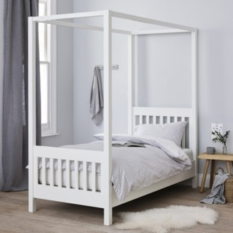 The White Company Classic Single Four Poster Bed, White, One Size