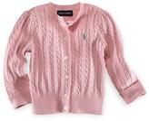 Ralph Lauren Girls' Cable Cardigan Sweater - Sizes 2T-6X