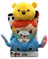 Disney Stacked Stitch Throw & Pillow Set Multicolored 2pc - Tsum Tsum®