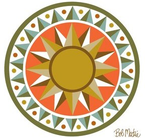 Bob Mackie Flatweave Orange/Brown/Green Rug