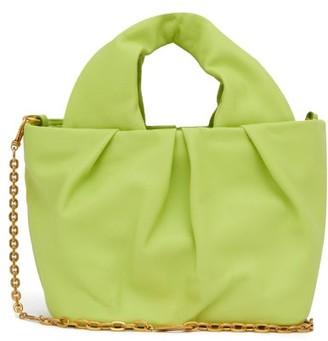 STAUD Lera Chain-strap Leather Top Handle Bag - Green