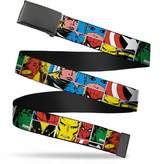 Marvel Avengers Comics Superheroes Cut Out Collage Web Belt