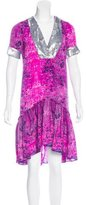 Gryphon Silk-Blend Embellished Dress
