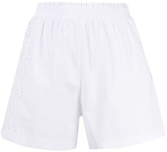 Ermanno Scervino Perforated-Detail Shorts