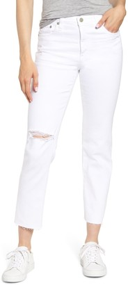 AG Jeans The Isabelle Ripped High Waist Ankle Straight Leg Jeans