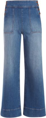 Alice + Olivia Donald High Rise Wide Leg Jean