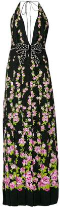 Gucci Climbing Roses print bow embellished gown