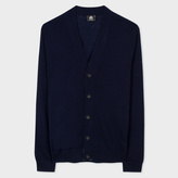 Paul Smith Men's Navy Merino-Wool Cardigan
