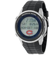 Game Time Montreal Canadiens Silver Tone Digital Schedule Watch - NHL-SW-MON - Men