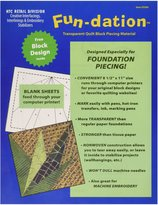 HTC 5500 Fun-Dation Quilt Block Piecing Material, 8-1/2 by 11-Inch, 25-Pack