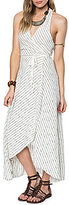 O'Neill Josephina Striped Wrap V-Neck Maxi Dress