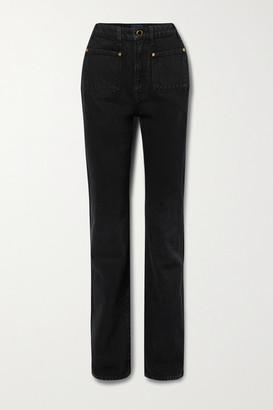 KHAITE Isabella High-rise Straight-leg Jeans - Black