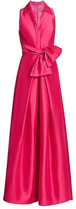 Theia Zibeline Shirt Ball Gown