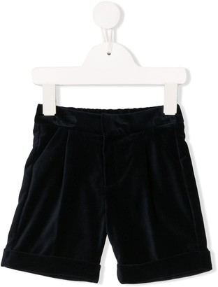 La Stupenderia textured folded hem shorts
