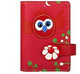 MENKAI Women's Appliqued Flowers PU Leather Small Wallet