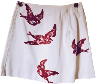 Miu Miu White Cotton Skirt for Women