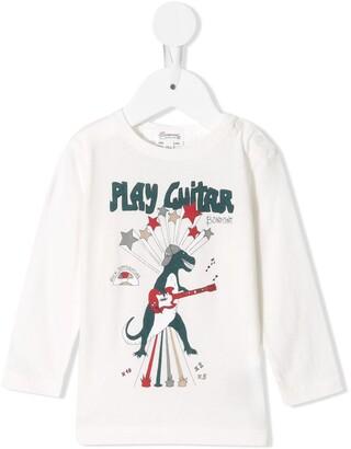 Bonpoint dinosaur guitar T-shirt