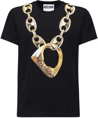 Moschino Chain Print Cotton T-shirt
