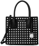 MICHAEL Michael Kors Mercer Stud & Grommet Leather Satchel