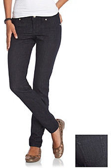 Blue Spice 5-Pocket Skinny Jeans with Bling Hardware