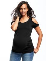 Old Navy Maternity Fitted Cutout-Shoulder Top