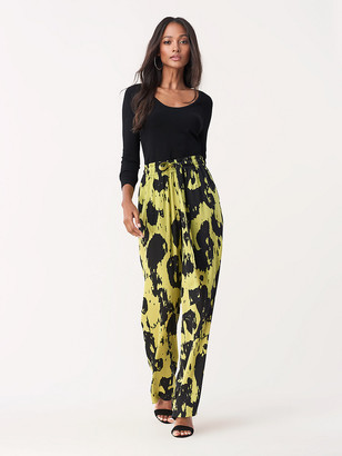 Diane von Furstenberg Denise Stretch Georgette Pants